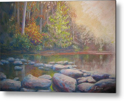 Fall Metal Print featuring the painting Hint Of Autumn by Shirley Braithwaite Hunt