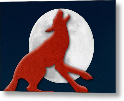 Photography Metal Print featuring the photograph Howling At The Moon by Paul Wear