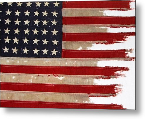Flag Metal Print featuring the photograph Jfk's Pt-109 Flag by Lori Pessin Lafargue