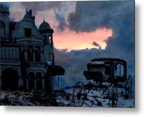Haunted Mansion Metal Print featuring the digital art Keg And Carriage by Tom Straub