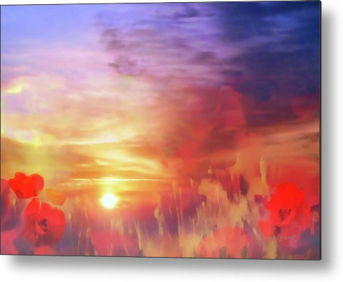 Landscape Metal Print featuring the photograph Landscape Of Dreaming Poppies by Valerie Anne Kelly
