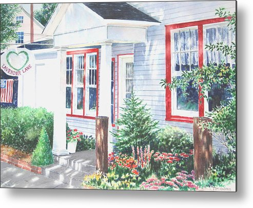 Landscape Metal Print featuring the painting Lavender Lane Occoquan Virginia by Tom Harris
