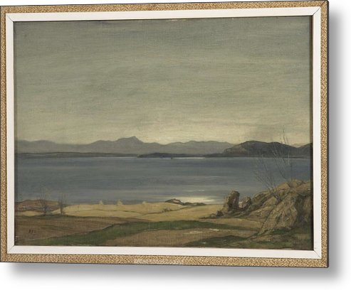 Nature Metal Print featuring the painting Loch Nell, 1930-1935, By Sir David Cameron 2 by Sir David Cameron