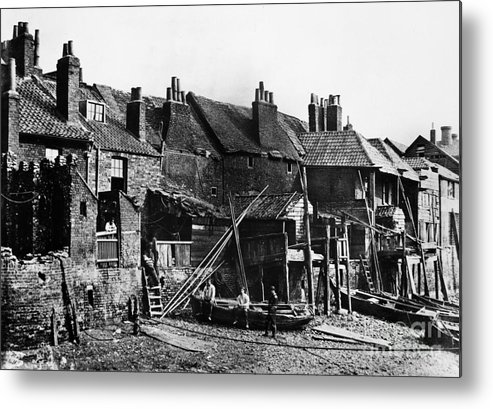 1860 Metal Print featuring the photograph London: Riverside, C1860 by Granger