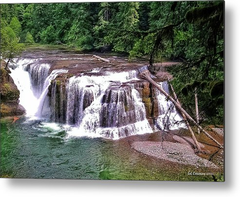 Waterfall Metal Print featuring the photograph Lower Lewis Falls by Edward Coumou