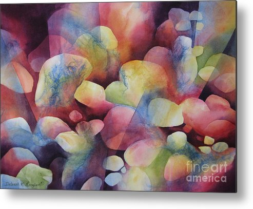 Abstract Metal Print featuring the painting Luminosity by Deborah Ronglien