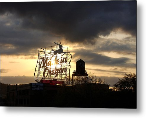 Oregon Metal Print featuring the photograph Made In Oregon by Heather S Huston