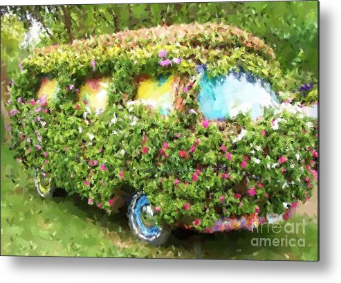 Volkswagen Metal Print featuring the photograph Magic Bus by Debbi Granruth