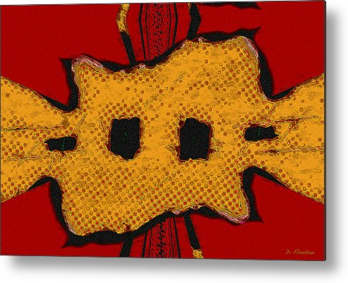 Mask Metal Print featuring the digital art Masquerade 2 by Dee Flouton