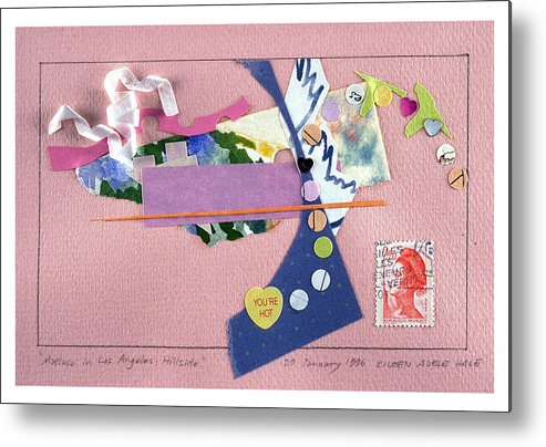 Collage Metal Print featuring the mixed media Matisse In Los Angeles by Eileen Hale