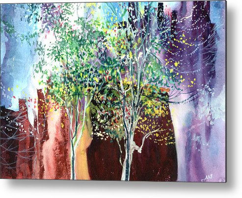 Nature Metal Print featuring the painting Maya by Anil Nene