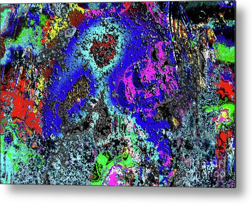 Abstract Metal Print featuring the digital art Moon Of Another Planet by Pete Moyes