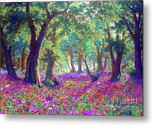 Sun Metal Print featuring the painting Morning Dew by Jane Small
