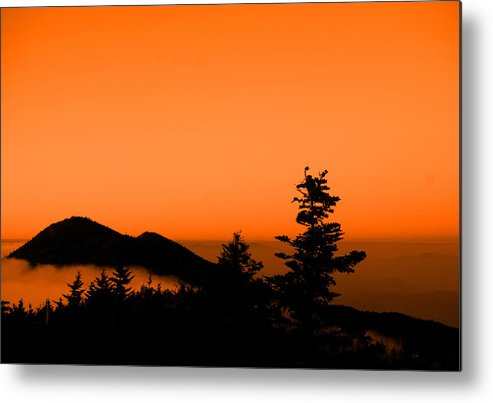 Log Cabin Metal Print featuring the photograph Mount Craig Above Sunset by Jason Wade