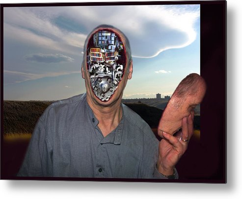 Surrealism Metal Print featuring the digital art Mr. Robot-otto by Otto Rapp
