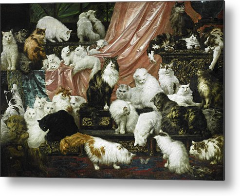Carl Kahler Metal Print featuring the painting My Wife's Lovers by Carl Kahler