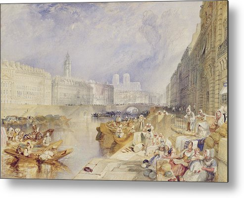 Nantes Metal Print featuring the painting Nantes by Joseph Mallord William Turner