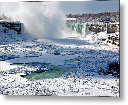 Niagara Falls Frozen Metal Print featuring the photograph Niagara Falls Frozen II by J R Baldini Master Photographer