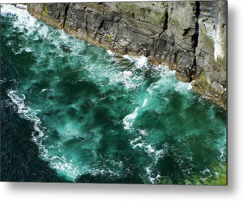 Irish Metal Print featuring the photograph Nowhere To Go Cliffs Of Moher Ireland by Teresa Mucha