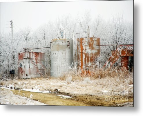 Kansas Metal Print featuring the photograph Oil Tank Farm by Fred Lassmann