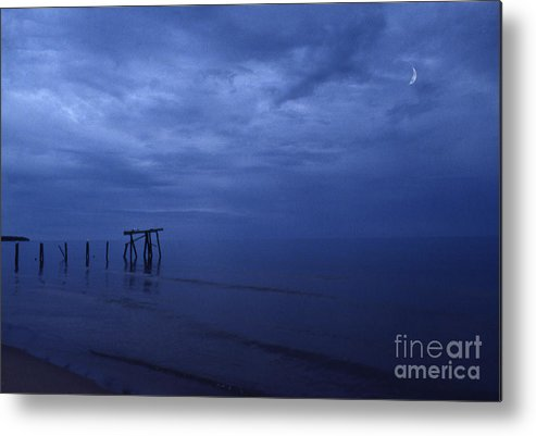 Pier Metal Print featuring the photograph Old Fishing Pier by Timothy Johnson