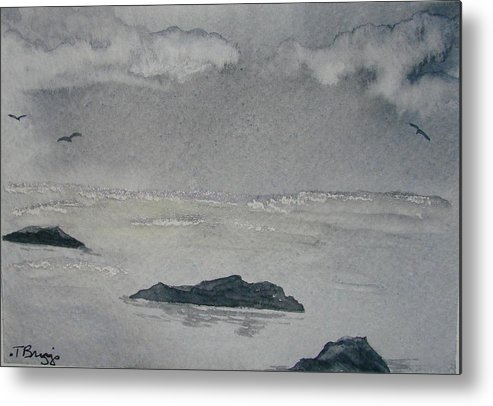 Ocean Metal Print featuring the painting On The Sea by Dottie Briggs