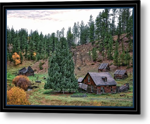 Old Homestead On Hwy 85 North. Metal Print featuring the photograph One Fall Day by Brenda D Busskohl