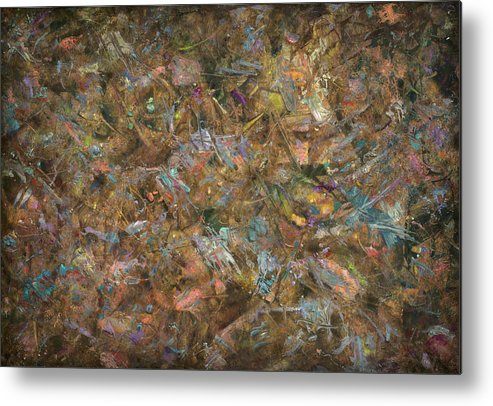 Abstract Metal Print featuring the painting Paint Number 18 by James W Johnson