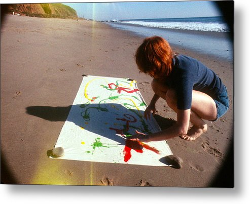 Sand Metal Print featuring the photograph Painting In Sand by Pamela Maloney