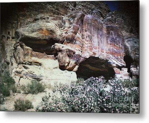 1939 Metal Print featuring the photograph Petra, Transjordan: Cave by Granger
