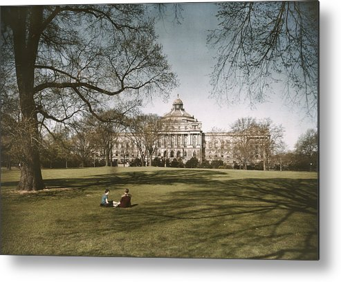 library Of Congress Metal Print featuring the photograph Plate 8 X 10 by Charles Martin