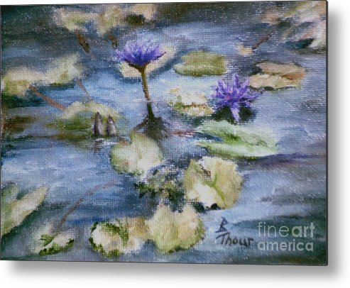 Lily Metal Print featuring the painting Purple Lily by Brenda Thour
