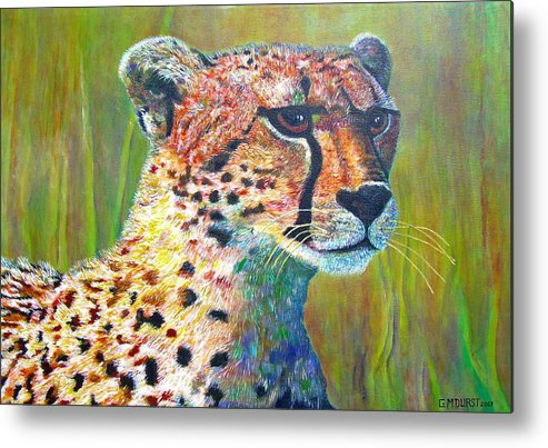 Cheetah Metal Print featuring the painting Ready For The Hunt by Michael Durst