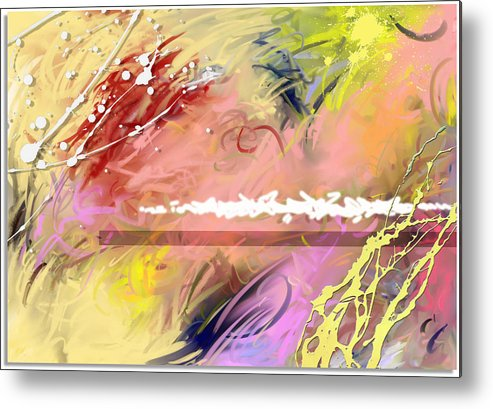 Abstract Metal Print featuring the digital art Red Convertable by Snake Jagger