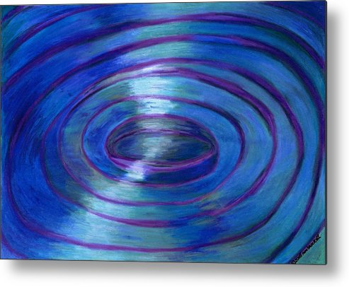 Watercolor Crayon Metal Print featuring the painting Ripples by Nancy Brockett
