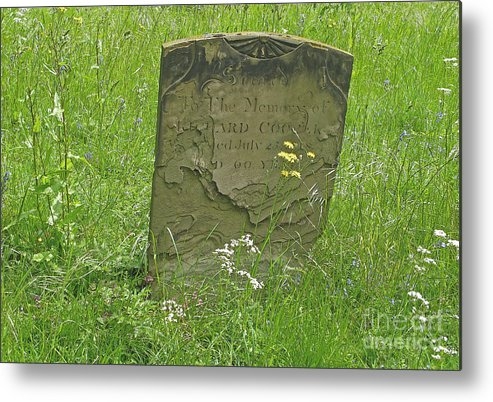 Tombstone Metal Print featuring the photograph Sacred Memory by Ann Horn