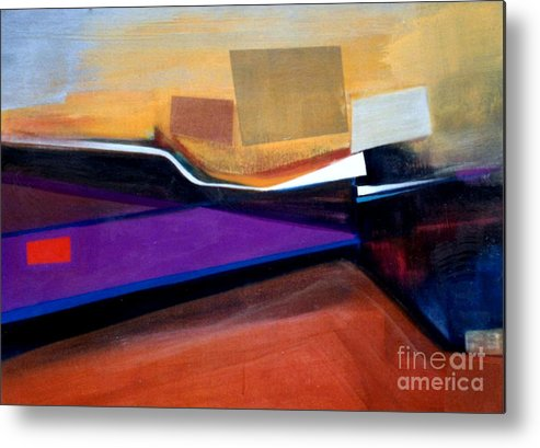 Abstract Metal Print featuring the painting Santa Fe 2 Let Loose by Marlene Burns