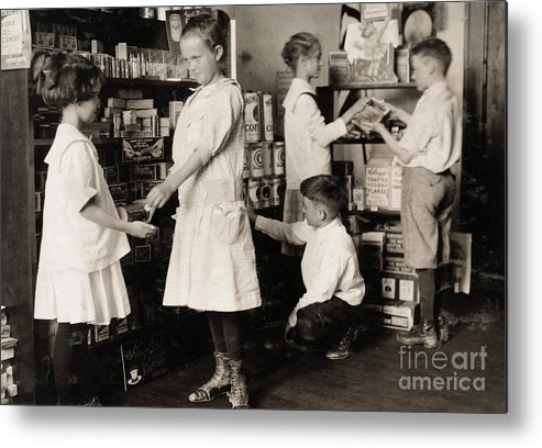 1917 Metal Print featuring the photograph School Store, 1917 by Granger