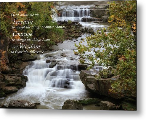 Serenity Prayer Metal Print featuring the photograph Serenity Prayer by Dale Kincaid