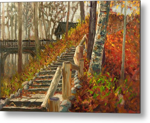 Plein Air Metal Print featuring the painting Seven Bridges by Anthony Sell