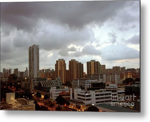 Singapore Metal Print featuring the photograph Singapore Skies by Marie Loh