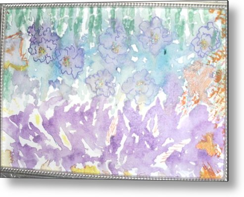Soft Metal Print featuring the painting Soft And Pretty by Anne-Elizabeth Whiteway