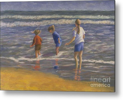 Beach Metal Print featuring the painting Song Of Praise by Mary Erbert