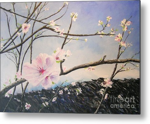 Flower Metal Print featuring the painting Spring Is In The Air by Lizzy Forrester