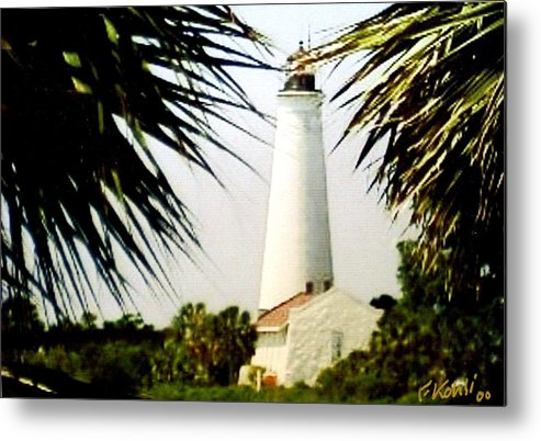 Lighthouse Photographs Metal Print featuring the photograph St Marks Lighthouse by Frederic Kohli