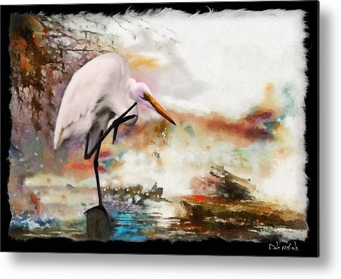 Florida Artists Metal Print featuring the painting Steath Fighter by Dale Nichols