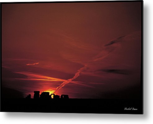 Abstract Metal Print featuring the photograph Stonehenge by Rachel Dunn