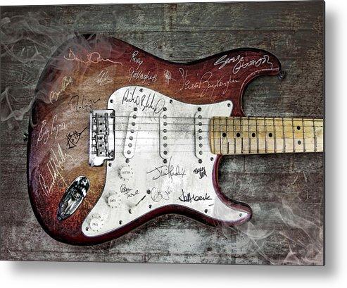 Guitar Metal Print featuring the digital art Strat Guitar Fantasy by Mal Bray