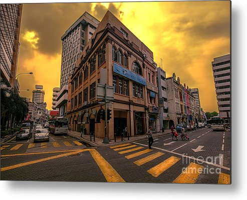 Strret Metal Print featuring the photograph Street by Charuhas Images