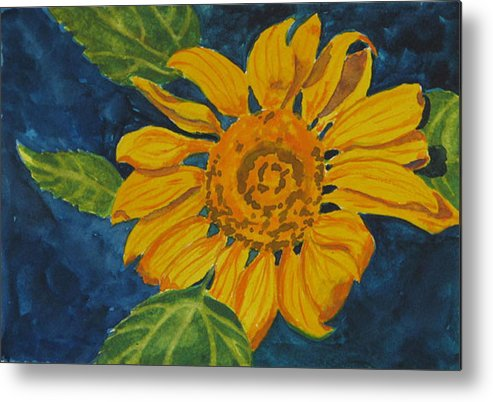 Sunflower Metal Print featuring the painting Sunflower - Mini by Libby Cagle